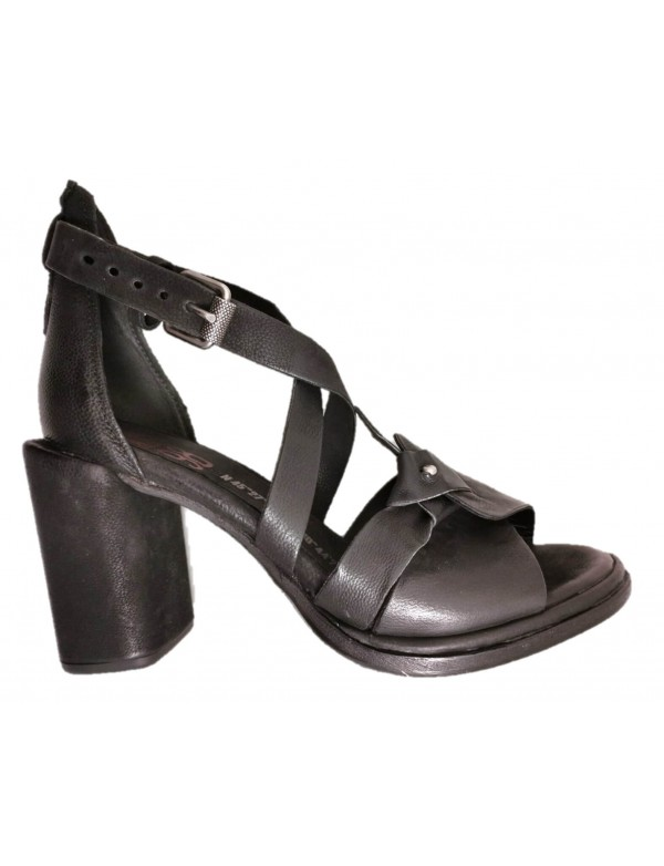 High heel leather sandals, by AS98