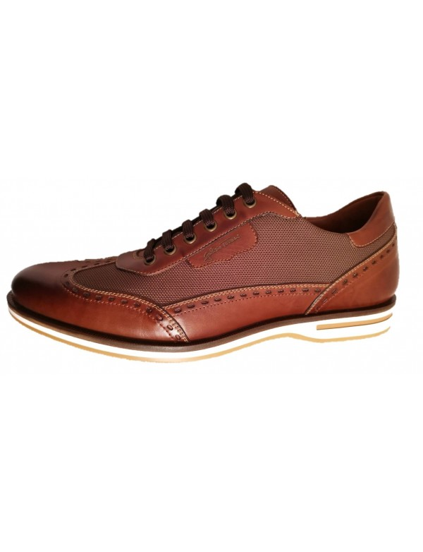 Brown shoes for men, handmade