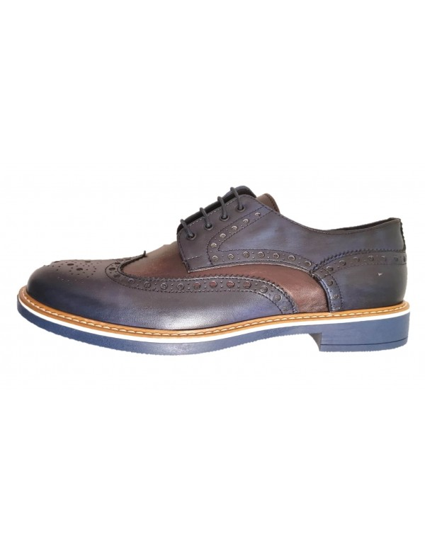 Italian leather wingtip shoes for men