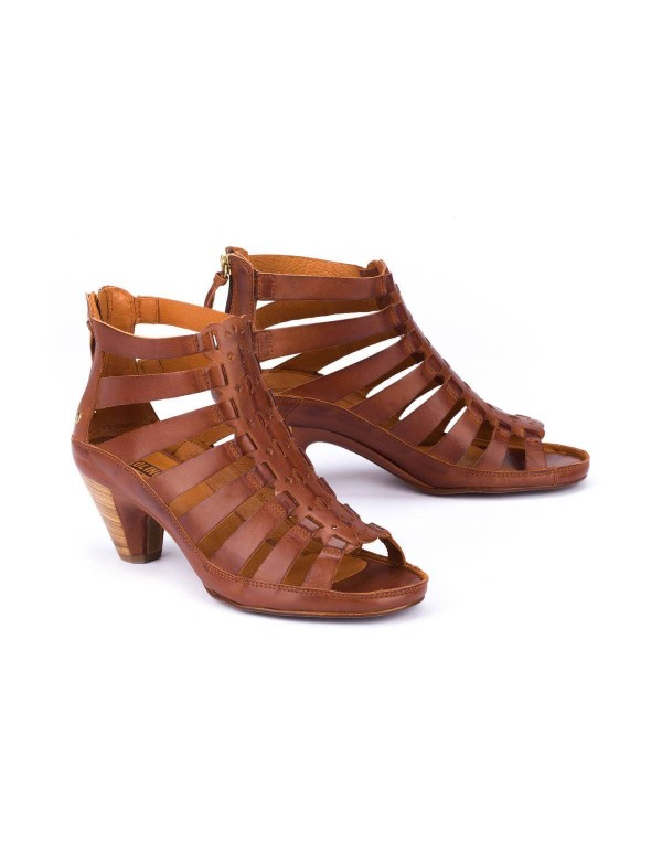 Cage leather sandals for ladies