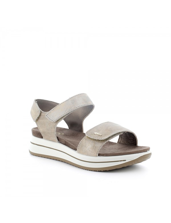 Suede leather wedge sandals, by Khriò