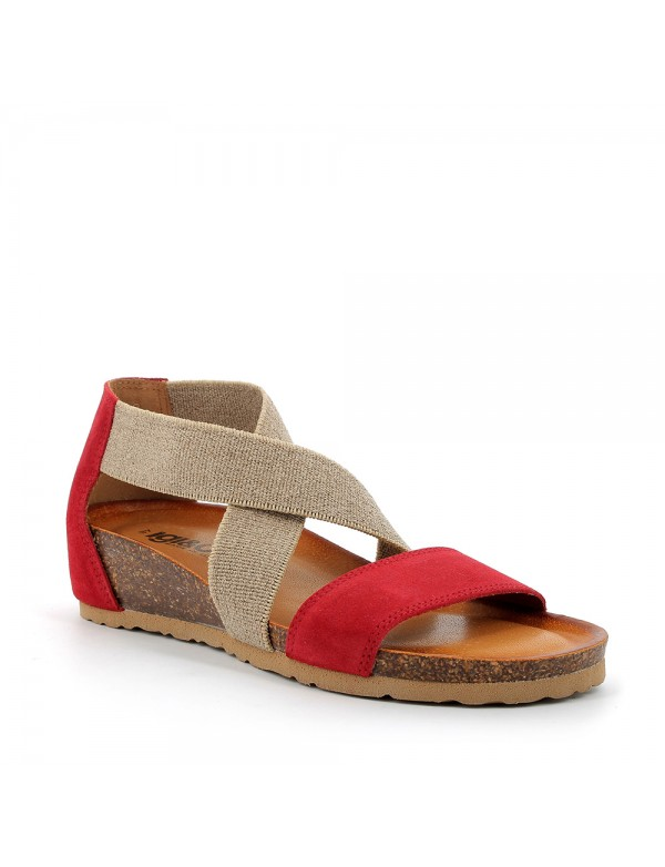 Red casual sandals