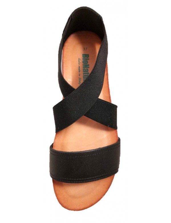Bionatura Italian sandals, black color