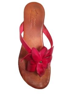 Sandali rossi infradito bassi