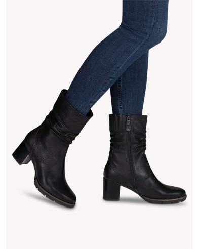 Black Mid Calf Boots for Ladies   Tamaris Shoes