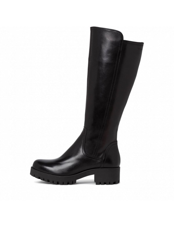 Black high boots for ladies