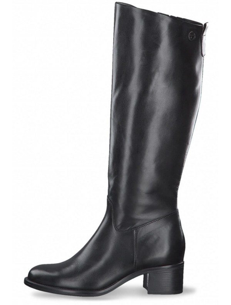 Black leather high boots, Tamaris 25569