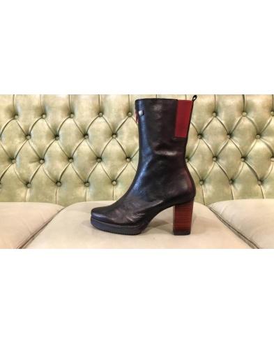 High heel boots, mid calf