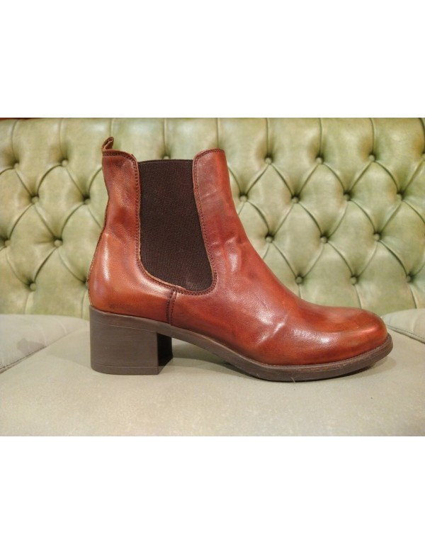 Italian soft leather ankle boots