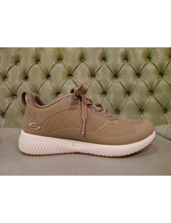 Skechers Bobs Sport Squad Taupe