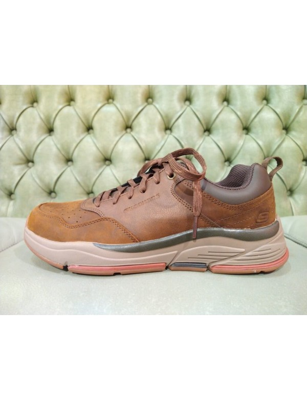 Skechers brown leather shoes for men