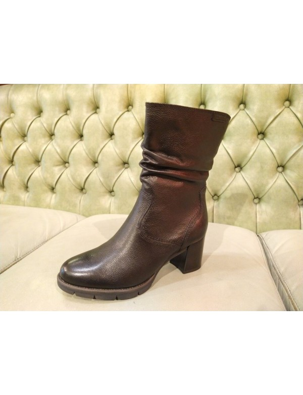 Black mid calf boots for ladies