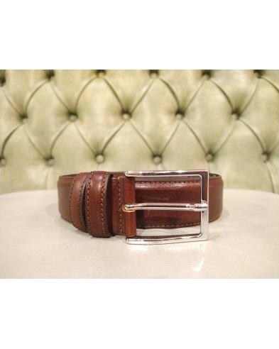 Italian leather belt for men, brown