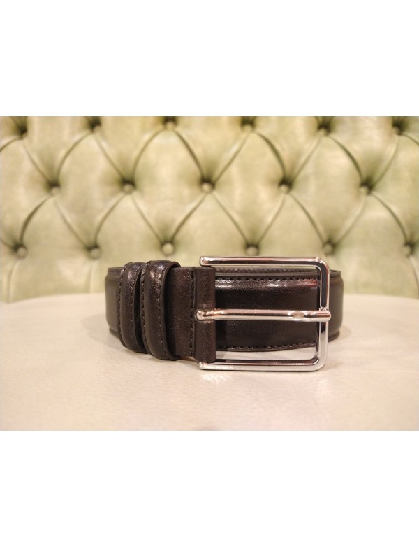 Leather belt for men, handmade in Italy