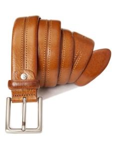 Cintura con cucitura centrale, cuoio