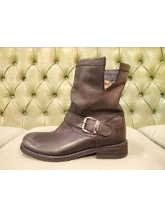 Stivali in pelle nera bassi, Felmini 7176