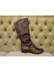Stivali senza tacco in pelle