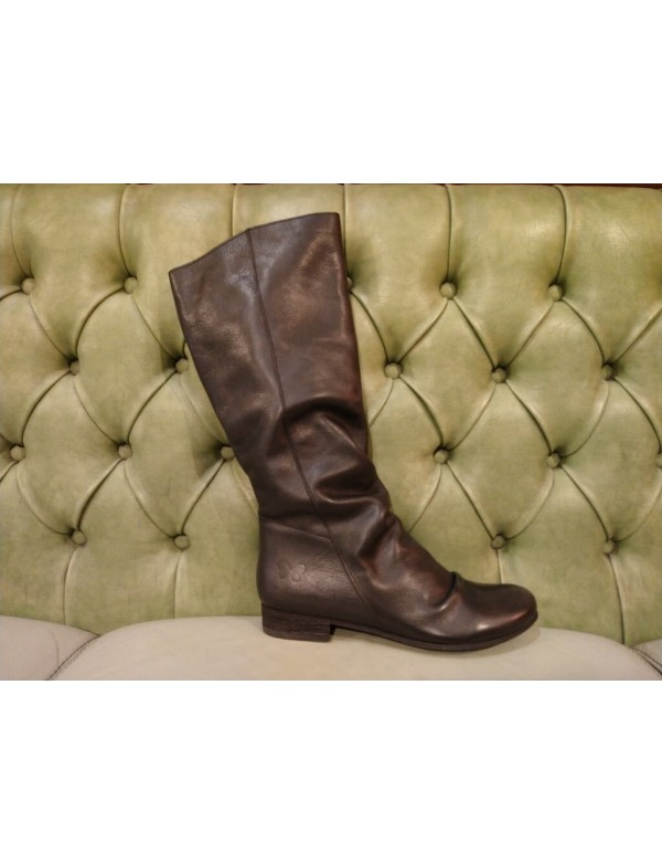 Black leather boots for girls, Felmini