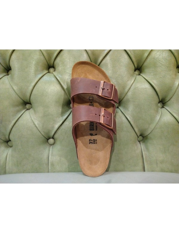 Birkenstock Arizona sandal, brown leather