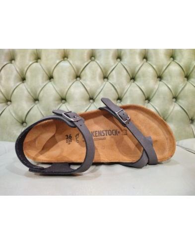Birkenstock Taormina thong sandal, brushed black