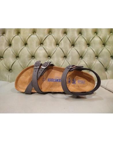 Birkenstock sandalo Kumba nero spazzolato