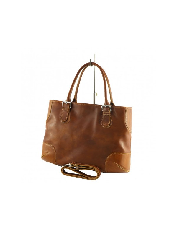 Italian leather bag, tan leather