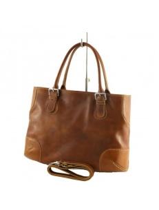 Italian leather bag, tan leather