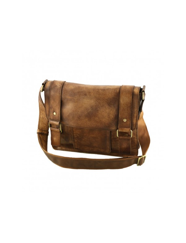 Saddleback leather bag, made in Italy