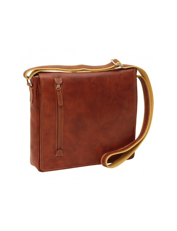 Brown messenger bag made in Italy