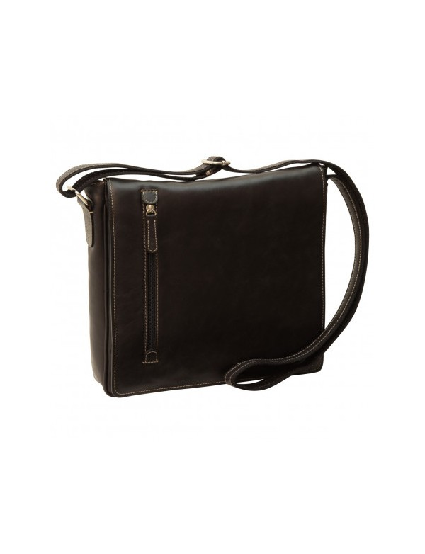 Borsa nera in pelle, made in Italy