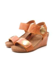 Womens brown wedge sandals, Ca'Shott