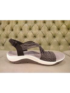 Sandali skechers da donna neri