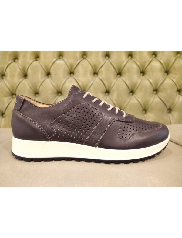 Men's everyday sneakers, blue leather