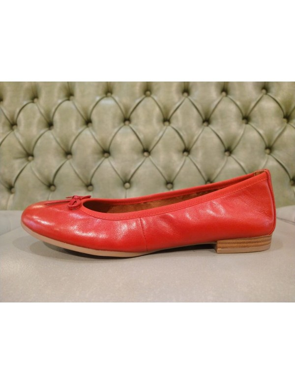 Red leather flats shoes for girls