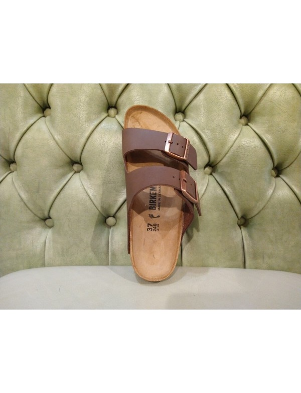 Arizona Dark Brown Birko Flor, by Birkenstock