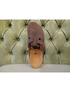 Birkenstock Boston closed sandals, habana