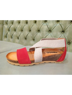 Sandali rossi comodi Igi&Co 7185044
