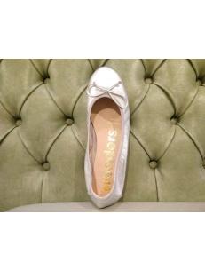 Ballerina Wonders in pelle morbida, argento. Art.A6191
