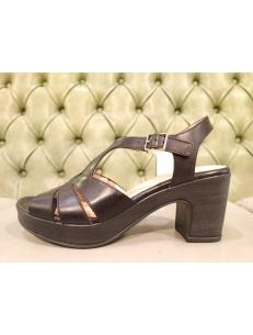 Wonders black sandals F-5853