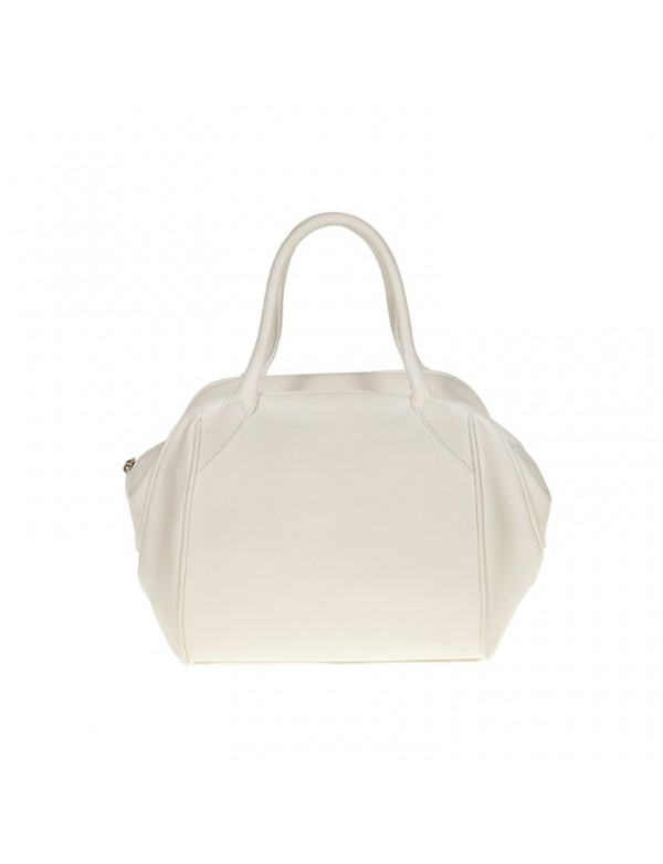 White leather satchel, made in Italy