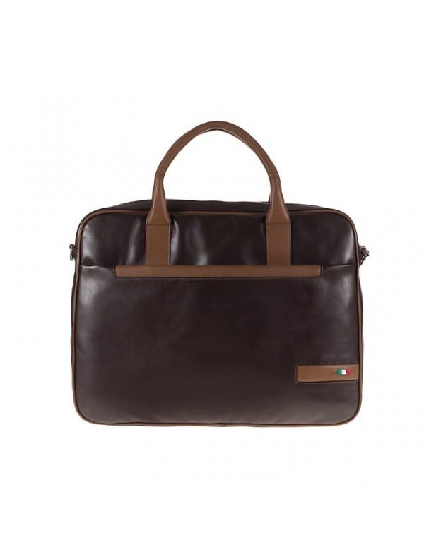 Leather bag for office, made in Italy