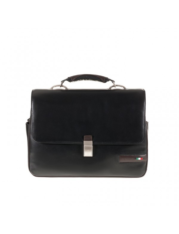 Work bag for laptop, in genuine leather