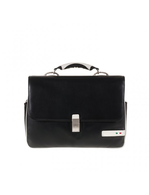 Italian leather briefcase for laptop