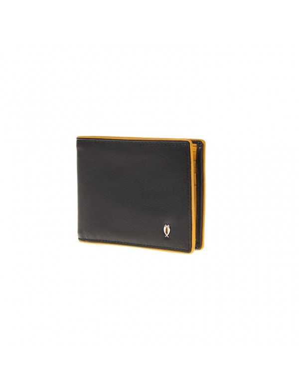 Italian leather wallet bifold, made in Italy