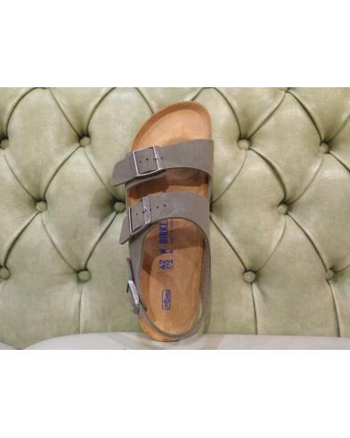 Milano sandals for men by Birkenstock, emerald green