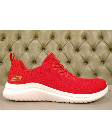 Skechers red shoes ULTRA FLEX line