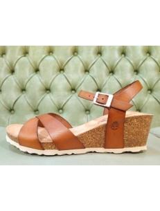 Crossed leather sandals for ladies, Yokono