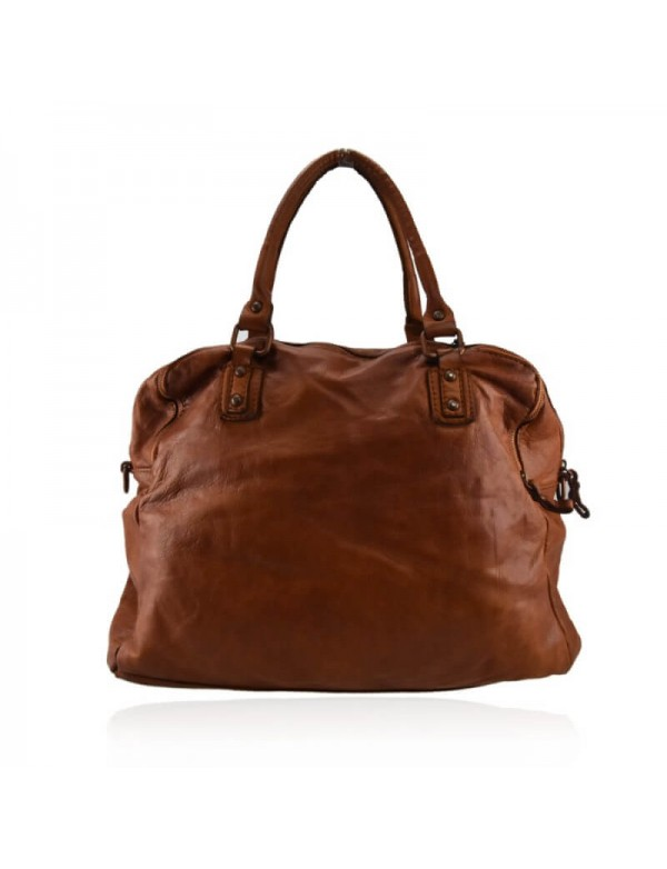 Vintage leather handbag, made in Italy