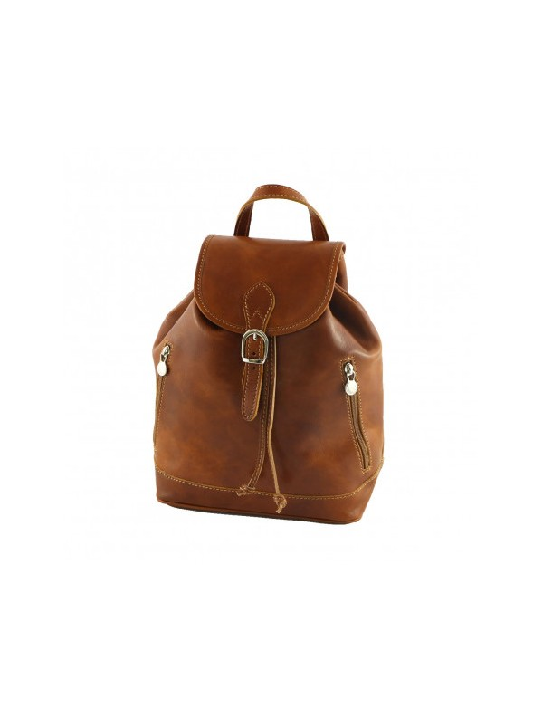 Backpack in Italian leather, for women