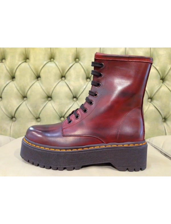 Burgundy boots for women, made in Italy